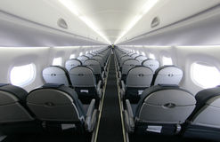 Airliner seats rows 027 Royalty Free Stock Photography