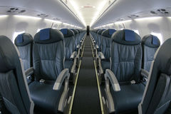 Airliner seats rows 018 Stock Image