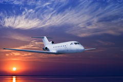 Airliner in sky Stock Image
