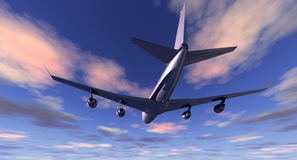 Airliner at Sundown Royalty Free Stock Photos