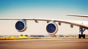 Airliner wing Royalty Free Stock Photo