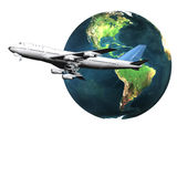 Airliner With A Globe Stock Photo
