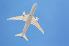 Airliners flying overhead Stock Photo