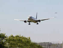 Airliners landing at Heathrow Royalty Free Stock Photography