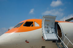 Airlines 6. A plane side with an open door Royalty Free Stock Photography