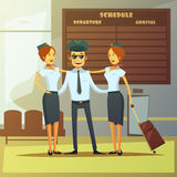 Airlines Cartoon Illustration Royalty Free Stock Photo
