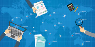 Airlines plane management  design Royalty Free Stock Photo