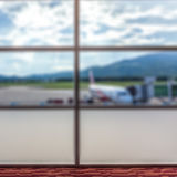 Airlines plane prepares for passengers to board Stock Images