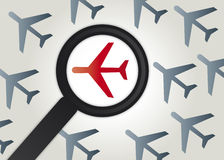Airlines symbol illustration. To examine Airlines carefully - illustration Royalty Free Stock Photos