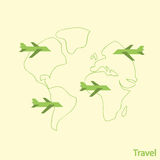 Airlines Travel,  illustration Stock Image