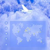 Airlines web design Royalty Free Stock Photo