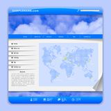 Airlines web design Royalty Free Stock Photos