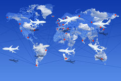 Airlines the world over Stock Image