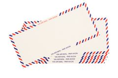 Airmail stock image