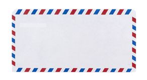 Airmail. Envelope in white background Stock Photo