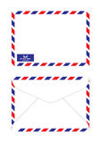 Airmail. Air mail envelope in classic actual size Royalty Free Stock Photo