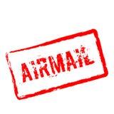 Airmail czerwona pieczątka odizolowywająca na bielu royalty ilustracja