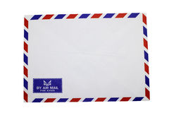 Airmail envelop. Isolate on white background Royalty Free Stock Images