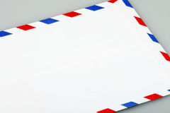 Airmail envelope. This is a airmail envelope Stock Photos