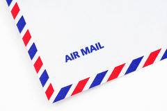 Airmail envelope. A airmail envelope, close up Royalty Free Stock Photos