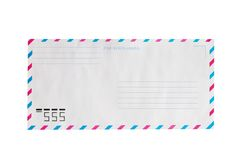 Airmail envelope. Net airmail envelope against white background Stock Image