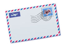 Airmail envelope stock illustration