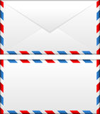 Airmail envelope. Vector illustration of airmail envelope Stock Photo