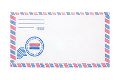 Airmail Envelope. Photo of a Airmail Envelope Royalty Free Stock Photo