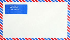 Airmail Envelope. An airmail envelope isolated on white Stock Photography
