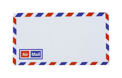 Airmail envelope isolated on white Stock Image