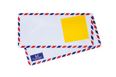 Airmail envelope. Paper note on airmail envelope Stock Photography