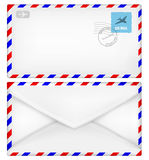 Airmail envelope with stamps. Stock Images
