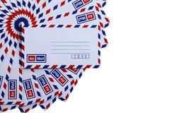 Airmail envelopes Stock Image