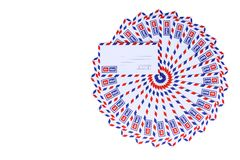 Airmail envelopes Royalty Free Stock Photos