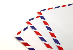 Airmail envelopes Stock Photo