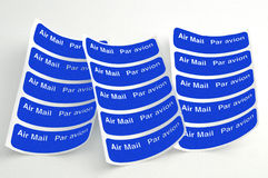 Airmail labels Stock Photography