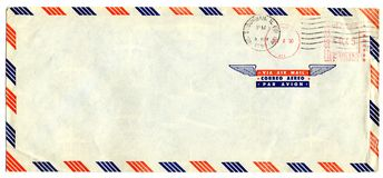 Airmail letter with american stamp Stock Photo