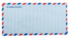 Airmail letter envelope. On white background Stock Photography