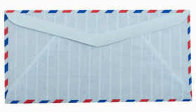 Airmail letter envelope. On white background Stock Image