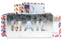 Airmail letters Royalty Free Stock Photos