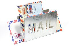 Airmail letters Royalty Free Stock Image
