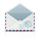 Airmail post envelope Stock Image