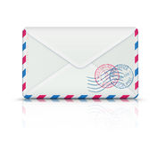 Airmail post envelope Stock Image
