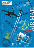Airmail postage stamps. Composition. This is my graphical opinion Royalty Free Stock Photos
