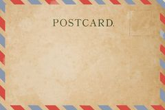 Airmail postcard. Old Airmail postcard Royalty Free Stock Image