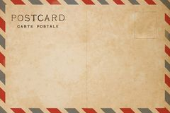 Airmail postcard. Old Airmail postcard Stock Photos