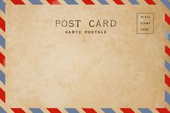 Airmail postcard Royalty Free Stock Images