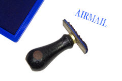 Airmail Rubber Stamp Stock Image