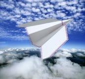 airmail samolotowy pojęcia papier Fotografia Stock