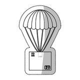 Airmail shipping delivery. Icon vector illustration graphic design Royalty Free Stock Photos